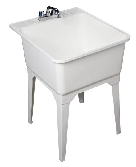 kitchen faucets white mechanical laundry sinks