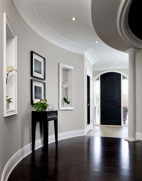 dark wood floors  light grey walls bedroom light