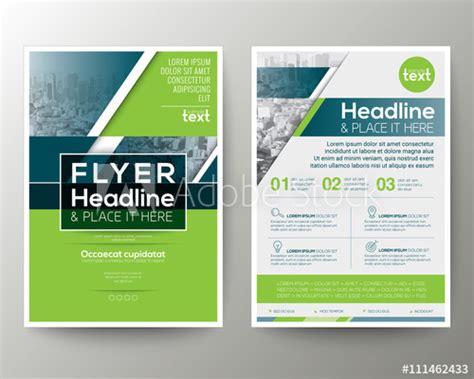 green  blue geometric poster brochure flyer design
