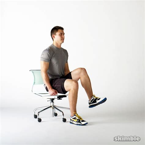 Chair Leg Raise At Home by Seated Knee Raises Exercise How To Workout Trainer By