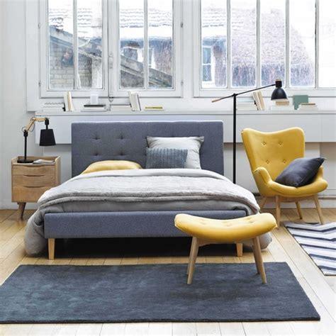 fauteuil vintage en tissu jaune maisons du monde pickture
