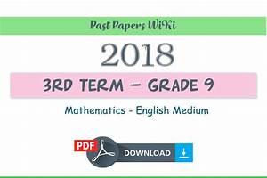 2018 Grade 9 Mathematics Third Term Test Paper