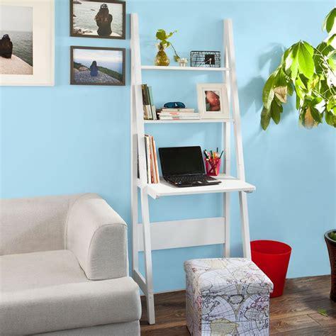 bureau echelle sobuy table bureau bibliothèque étagère style échelle de 3