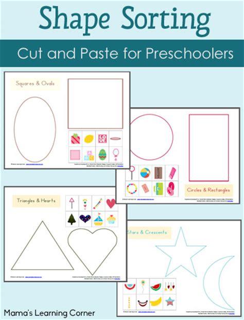 Shape Sorting Printables Packet  Mamas Learning Corner