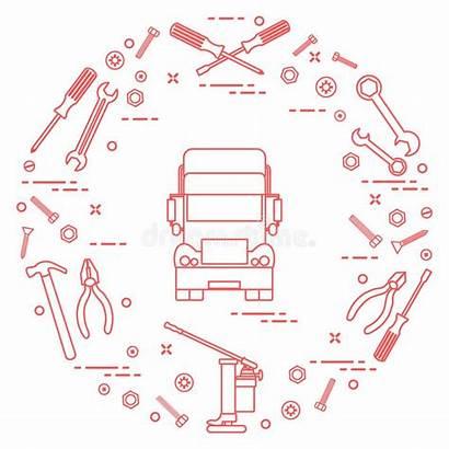Truck Repair Screws Wrenches Jack Pliers Cars