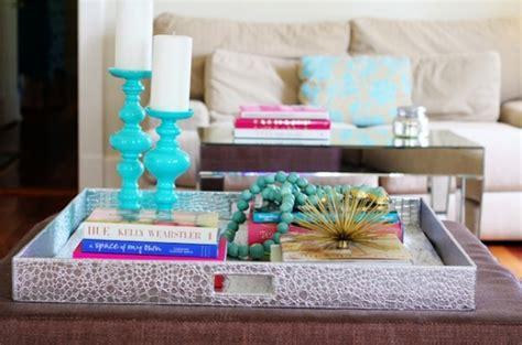 bright colored coffee table add pops of color with bright accessories interior