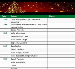 Sales Plan Excel Holiday Checklist Template My Excel Templates