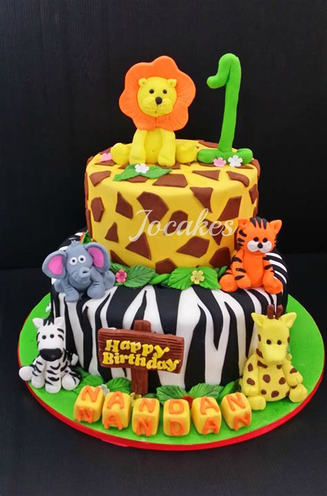 jungle animal cake jungle animal cake  nandans st