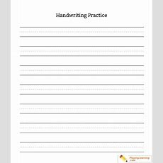 Kindergarten Handwriting Practice Blank Sheet  Free Kindergarten Handwriting Practice Blank Sheet