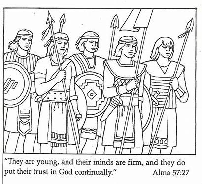 Coloring Lds Pages Warriors Primary Lesson Stripling