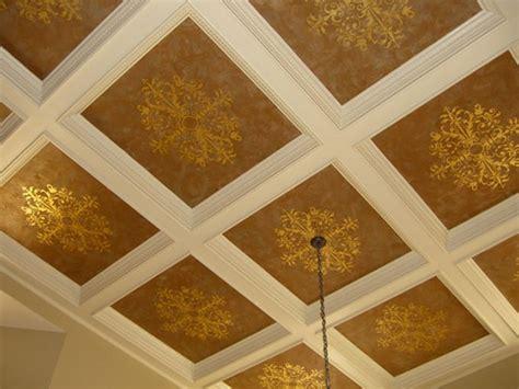modello designs stencils  coffered ceiling paint pattern