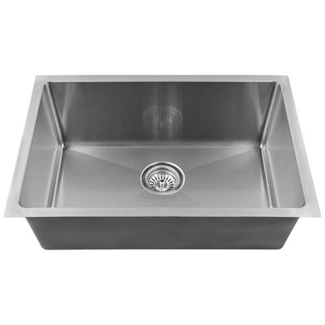 Mr Direct Undermount Stainless Steel 18 In Single Bowl