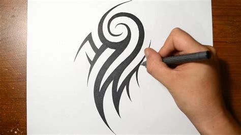 draw  cool tribal arm tattoo design youtube