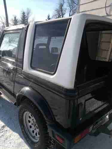 best auto repair manual 1992 suzuki samurai engine control purchase used 1992 suzuki samurai with removable top in fairdale north dakota united states