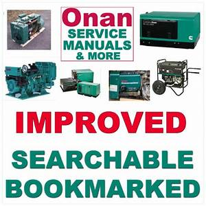 Onan Aj Generator Genset Repair Manual  Parts Catalog