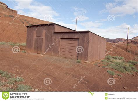 shed southern utah storage shed in rock country stock photo image 53489044