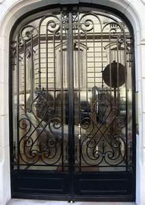 porte en fer forge elixir porte en fer forge style With de couleur peinture 5 portail fer forge style classique cadre chapeau de