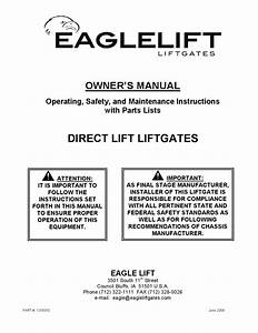 Eaglelift Edl Series Liftgate Manual By The Liftgate Parts