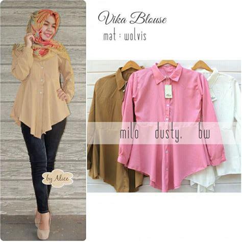 baju atasan wanita muslim ukuran besar baju muslim terbaru vika blouse grosir baju muslim