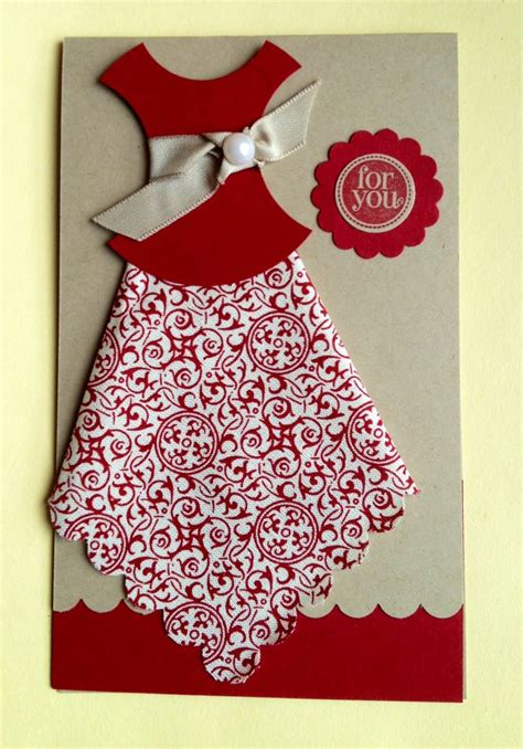 dress template  card making  flying stamper