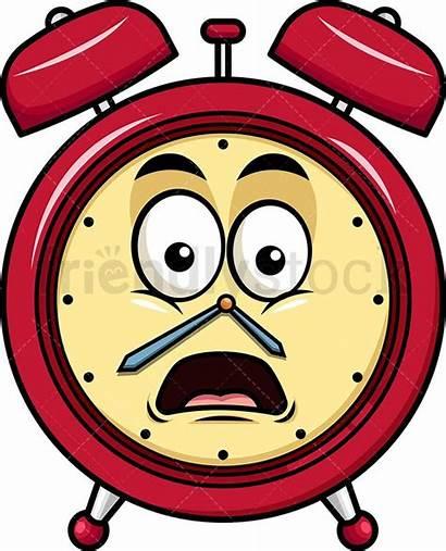 Emoji Clock Alarm Shocked Face Cartoon Clipart
