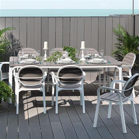 sedie mobili tavolo da giardino allungabile alloro 210 280 nardi