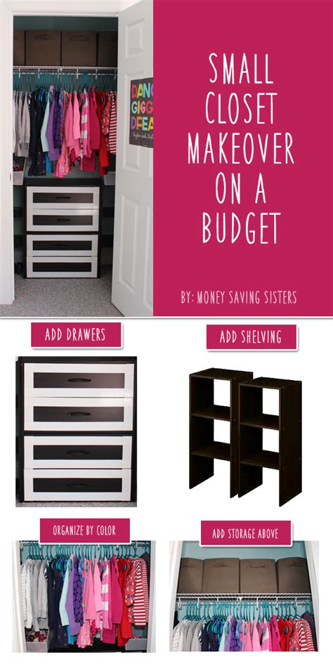 kid s room small closet makeover on a budget money