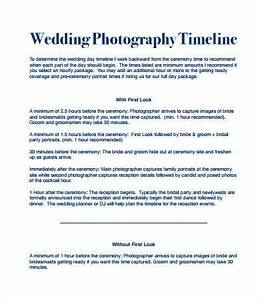 wedding day timeline 7 free pdf documents download With wedding photography timeline template