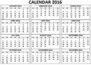 12 Month Calendar Print Out