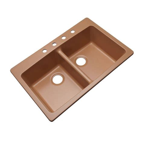 home depot sinks kitchen mont blanc waterbrook dual mount composite granite 33 in 4273