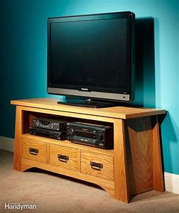 diy tv stand the family handyman With homemade tv furniture