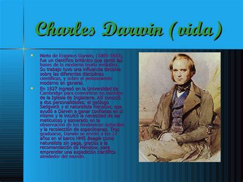 charles darwin resumen vida darwin y la selecci 243 n
