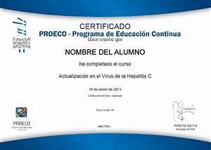 PROECO: Certificados