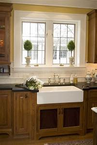 Farm sink traditional kitchen other metro by the for Kitchen window trim ideas