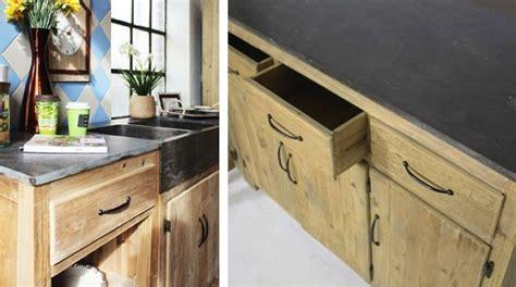 meubles cuisine bois brut cuisine où trouver des meubles indépendants en bois brut le déco de mlc