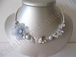 collier fantaisie mariage gris et blanc quotpurequot With collier mariage fantaisie