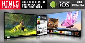 html5 video player with playlist multiple skins by With html5 video player template