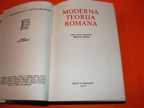 Moderna teorija romana (priredio Milivoj Solar) - Kupindo ...