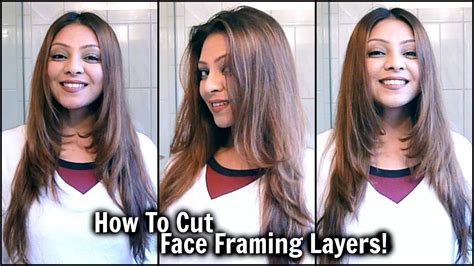 how to style haircuts how to cut framing layers at home diy layered 5055