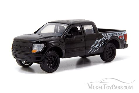 truck car black ford f 150 svt raptor pickup truck black jada toys just