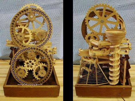 ball bearing playground wooden mechanisms marble