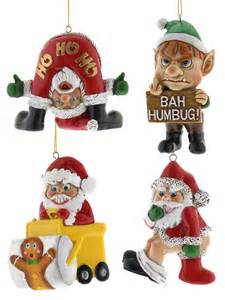 bad santa hanging decorations funny christmas tree xmas bah humbug naughty gift ebay