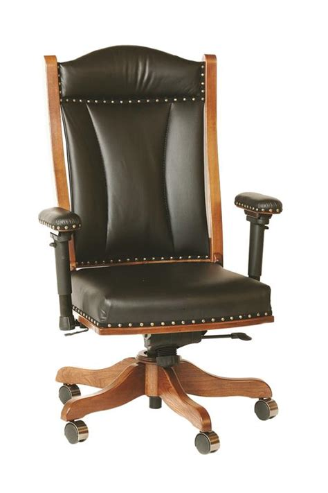 upholstered desk chair with arms amish traditional desk chair