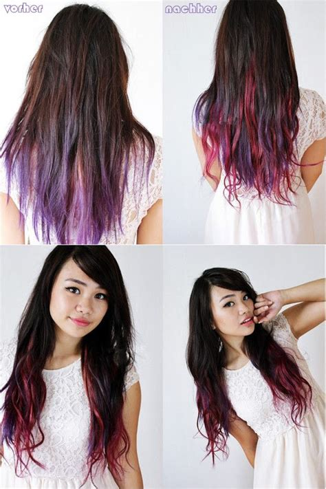 ombre hair ansatz dunkel färben beautiful lilac ombre hair style ombre hair