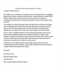 Free Recommendation Letter Sle by Sle Letter Of Recommendation For Scholarship 29
