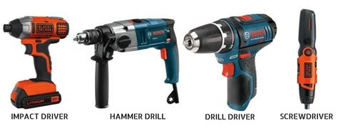 differences  impact hammer drill drivers
