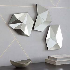 3D Faceted Mirrors west elm