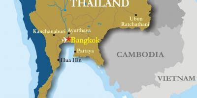 thailand neighbouring countries map map  thailand