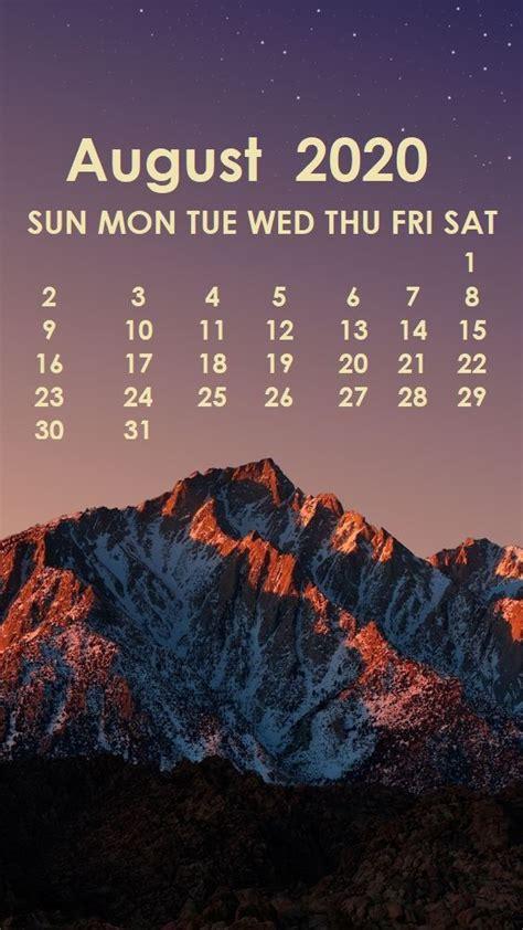 august  iphone wallpaper   calendar wallpaper