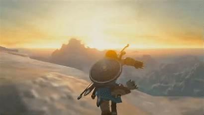 Zelda Wild Breath Legend Mountains Things Gliding
